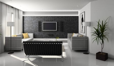 The grey color in the interior and its combinations with other colors