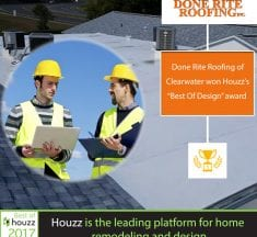 Done Rite Roofing Inc receives Best of Design Houzz Award