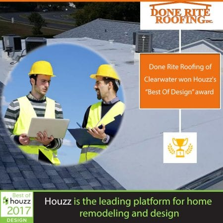 Done Rite Roofing Has Been Awarded Best Of Houzz 2018